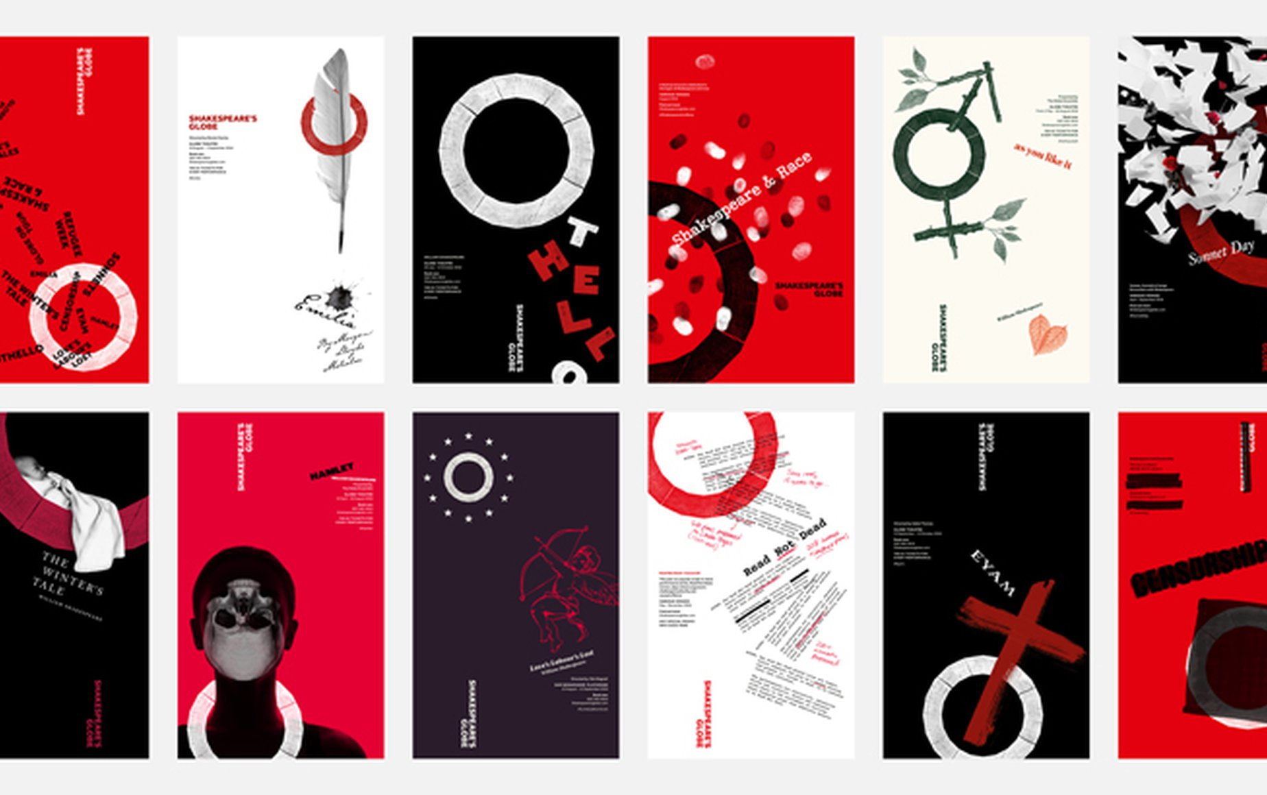 Posters for Shakespeare's Globe using the symbol